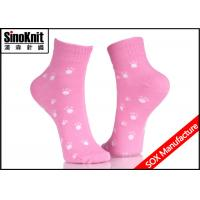 China Pink Dot Comfortable Ladies Fashion Socks Small Foot Patterned on sale