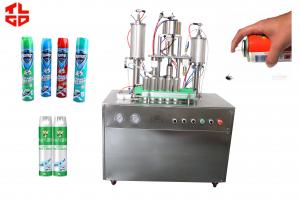 Quality Semi Automatic Aerosol Filling Machine For Bacteria Remover / Insecticide Spray for sale