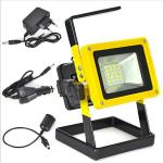China Aluminum Alloy  Outdoor light 10W Rechargeable  5730SMD LED Flood Light White/red/blue wholesale