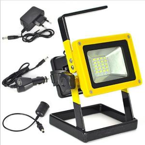 China Aluminum Alloy  Outdoor light 10W Rechargeable  5730SMD LED Flood Light White/red/blue on sale