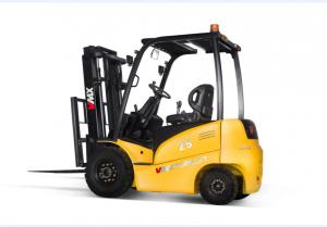 China Construction Four Wheel Electric Forklift Truck , Electric Fork Truck 2500KG on sale