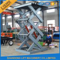 Warehouse Stationary Hydraulic Scissor Lift for Material Loading / Handling