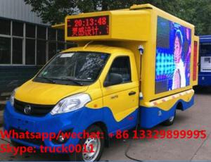 China Factory sale best price Foton 4*2 LHD Small Size gasoline Mobile LED Display Truck,mobile LED billboard vehicle on sale