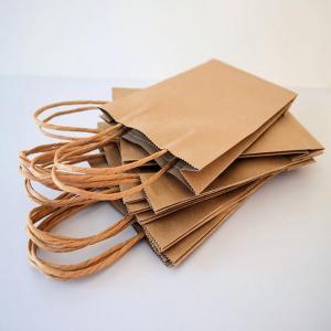 China Custom Printed Kraft Bags Brown Paper Bags on sale