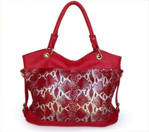China Lady Style New Soft Red Lady Genuine Leather Shoulder Bag Handbag #2733 on sale