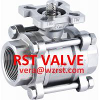 China NPT/BSPT/BSPP SS 3PC BALL VALVE WITH MOUNTED PAD,1000WOG on sale