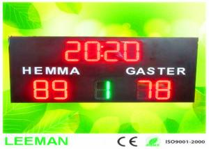 China Football Stadium LED Screens Digital Number LED Soccer Substitution Board 2 Color 2 Side on sale
