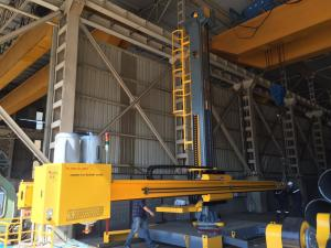 China 6x6 Welding Column And Boom Travel On Rail With Recovery Machine And Cross Slide on sale