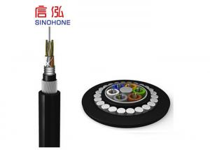 China High Strength 24 Core Armoured Fiber Optic Cable Loose Tub With PE Inner Sheath on sale