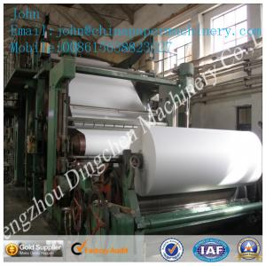 China 1575mm 5T/D cultural paper making machine with waste paper as material on sale
