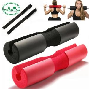 China Weightlifting Non Slip NBR Foam Barbell Pad With Bag on sale