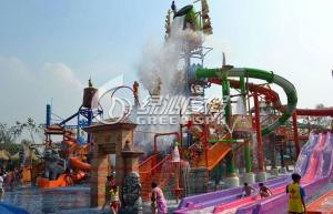 China Castle Style Childrens Fun Play Slides Aqua Tower Water Playground Equipment Outdoor on sale