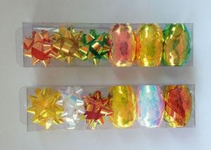 China PET and Iridescent Gift Wrap Ribbon Set , christmas gift ribbon with star and egg bow on sale