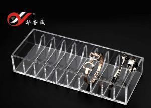 China Tamaño de acrílico del soporte de exhibición de la joyería del color limpio modificado para requisitos particulares para la exhibición de 10 brazaletes on sale