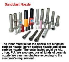 China Sandblast nozzle norbide nozzle ceramic nozzle suction cabinet nozzle venturi nozzle on sale