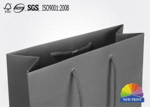 China Cool Matte Lamination Cardboard Paper Bags , Shopping Garments Bags with LOGO printed on sale