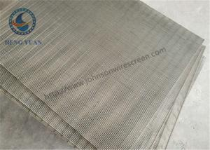 China SS 205 / 304 / 316 / Wedge Wire Mesh For FIlter Sieve Screening 0.5mm Slot Size on sale