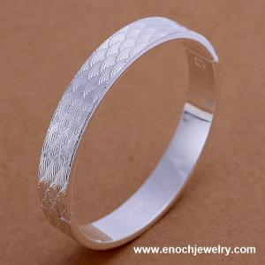China hot new product 925 silver plated bangles on sale