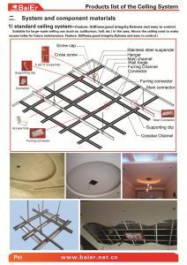 China Suspender el marco metálico del techo de la mampostería seca (canal principal, canal de Furring) con el ISO, ASTM, SONCAP on sale