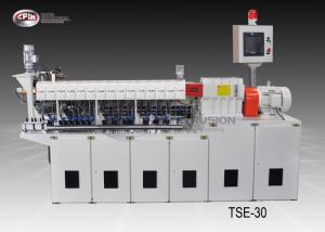 China Carbon Black Laboratory Twin Screw Extruder , Masterbatch Lab Scale Extruder on sale