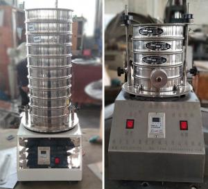 China 200mm diameter high quality lab test vibrating sieve shaker machine on sale