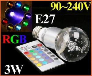 China AC85~265V 3W E27 RGB LED lamp RGB LED Light on sale