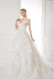China Off-Shoulder Sweetheart Neckline,Lace applique Ball Gown Wedding on sale