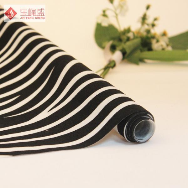 Nonwoven Embossed Velvet Fabric Spunlace Zebra Upholstery Fabric