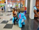 Hansel battery operated plush moving mechanical animals horse ride in mall