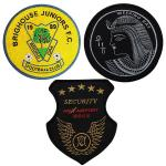 Heat Cut Border 22.8cm Embroidered Logo Badges For T Shirts Holes