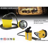 25000Lux 12Ah Corded Minining Cap Lamp with 4 Lighting Levels , 490g Lightweight Headlamp
