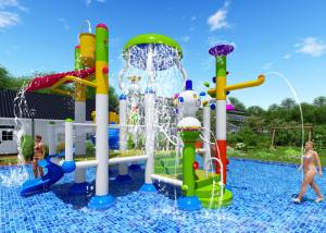 China Smooth Joints Water Park Equipment Commercial Slide Beautiful Rainbow Color on sale