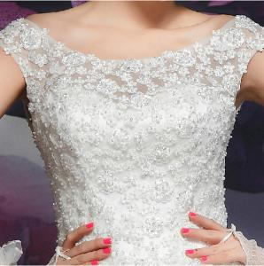 China bateau vintage elegant wedding dress on sale