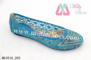 China Pretty Ballerinas Colorful Flat Lady Shoes on sale