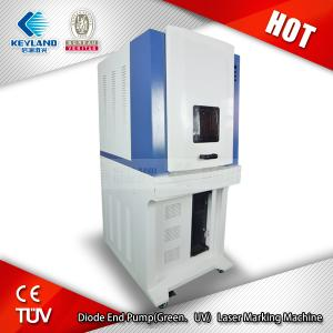 China FOB price Diode End Pump(Green/UV)laser marking machine for silicon wafer, ceramics, plastic, rubber, epoxy resin on sale