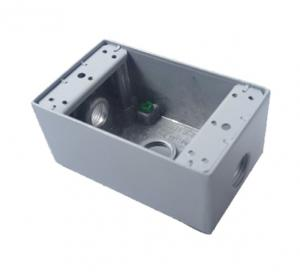 China 18.3 Cubic Inch Outdoor Electrical Junction Box , Waterproof Switch Box Single Gang on sale
