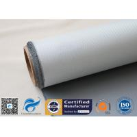 1 Side 18 Oz Grey Silicone Coated Fiberglass Fabric for Heat Insulation Pipe Cover
