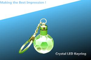 China LED crystal keychain/crystal LED keyring/globe LED keyring/CRYSTAL GLOBE LED key CHAIN on sale