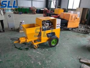 China High Efficiency 150m2/H Sand Mortar Plastering Machine Wet Mixed Concrete Sprayer on sale