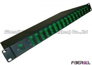 China Full Loaded 1U 19 Inch Rack Mounted Fiber Optic PLC Splitter With SC/APC Adapter on sale