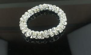 China Tin Alloy Jewelry plated silver Color Metal Cuff Bracelets with crystal for Party on sale