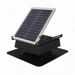 China 12v DC Brushless motor Solar Roof Ventilator rechargeable ventilation fan on sale