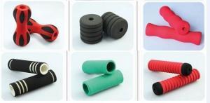 China Multi Color Rings Motorcycle Sponge Handlebar Grips / Bike Handle Grips Screen Printing on sale