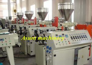 China 50-160mm  Waste Water Drain PVC Pipe Making Machine Double Screw Extruder on sale