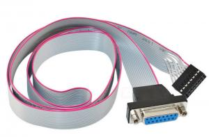 China Low Contact Resistance Flat Ribbon Cable 15 PIN Female To 16P Header PCB Motherboard on sale