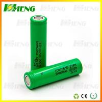 Green Lithium Rechargeable Batteries 2200mAh 18650 Battery Cell Flat Top
