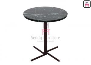 China Crossed X SS Base Luxury Coffee Tables With Round & Square Shape D45cm / 60cm on sale