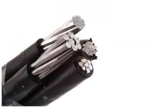 China Quadruplex Aluminum or Aluminum Alloy Aerial Bundled Cable 600/1000V PE Insulation ABC Cable on sale