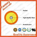 Simplex indoor fiber optic cables gjfjv tight buffer with loose tube 1 core optical fiber G652D round pvc lszh sheath