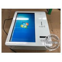 21.5 Inch Wall Mount Smart IR Touchscreen Self Service Machine With Cash Receiver